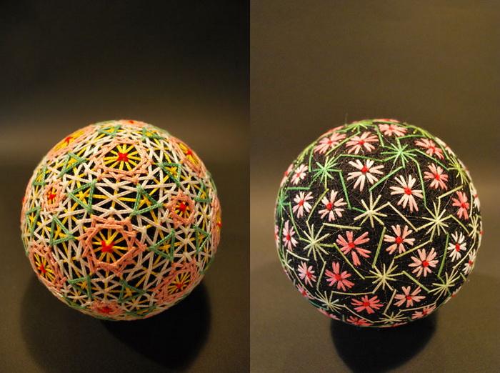 Вышитые шары «темари» из