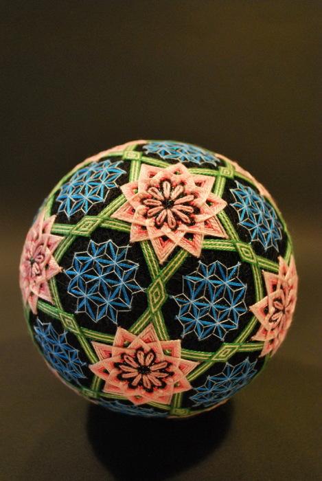 Вышитые шары «темари» от
