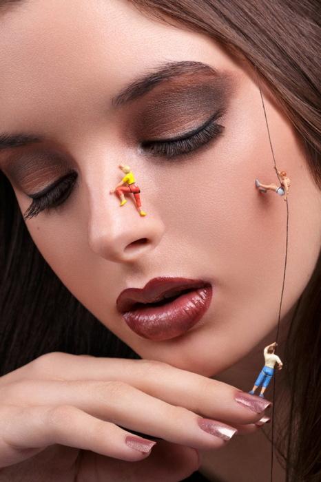 Искусство макияжа в фотографиях от Anna Hill