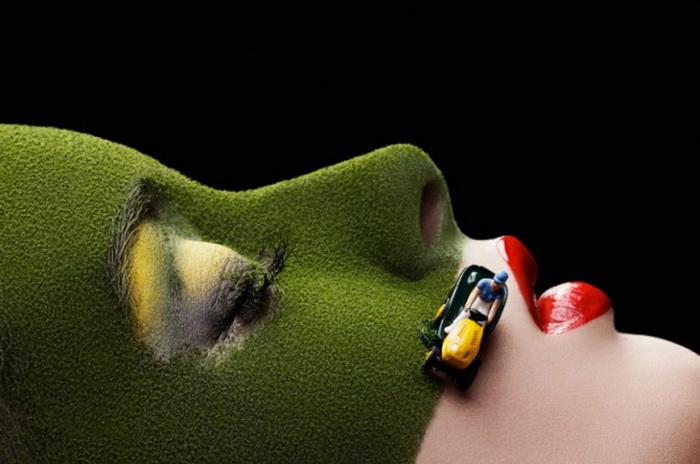 Оригинальное искусство макияжа от художницы Anna Hill