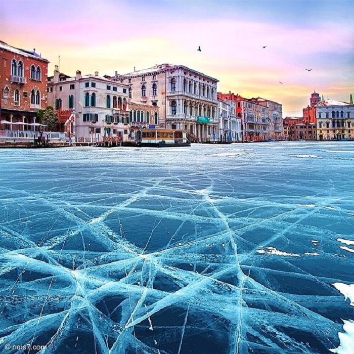 Лед в Венеции.