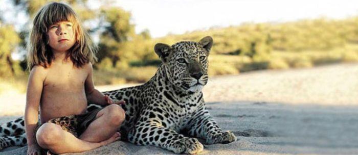 Tippi Degre с леопардом