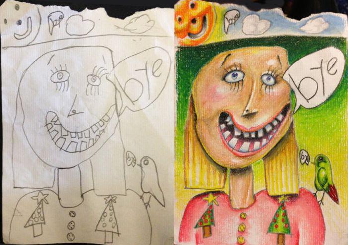 Coloring my kids art: проект, созданный из детских рисунков