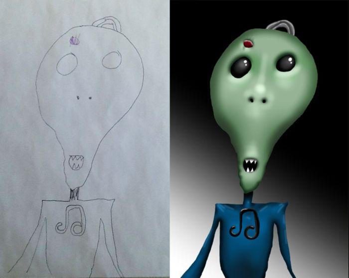 Coloring my kids art: рисуют дети художника