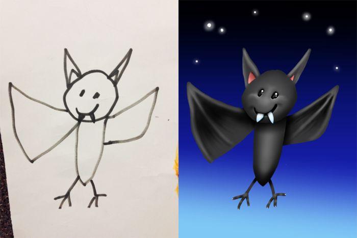Коллекция Coloring my kids art по детским эскизам
