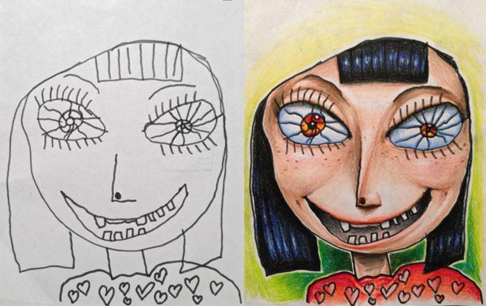 Детские рисунки Coloring my kids art