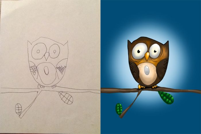 Coloring my kids art: по эскизам детей