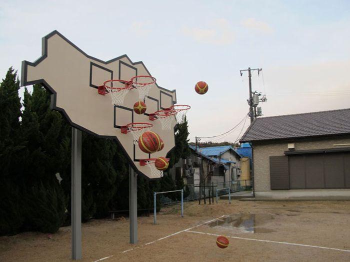 Баскетбольный щит с 6-ю кольцами