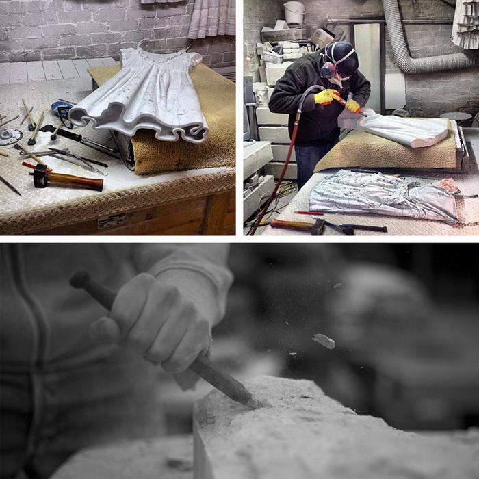 Создание мраморной одежды.
