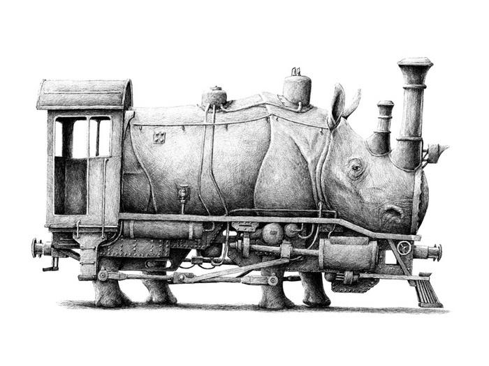 Носорог - поезд