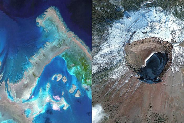 Фотографии, сделанные со спутника