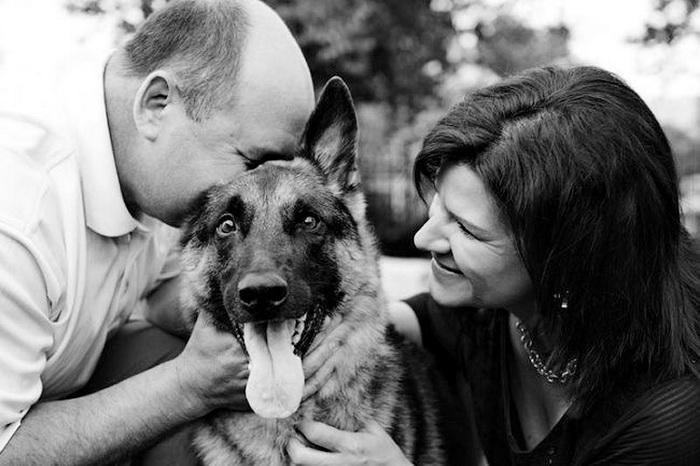 Собаки со своими владельцами