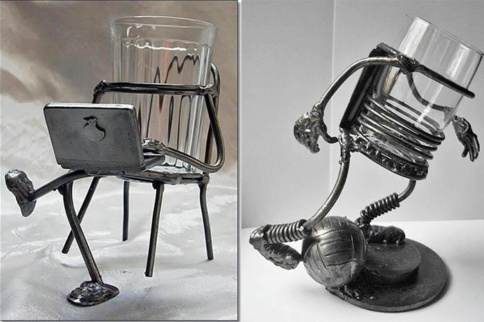 Граненые стаканы в стиле Steampunk
