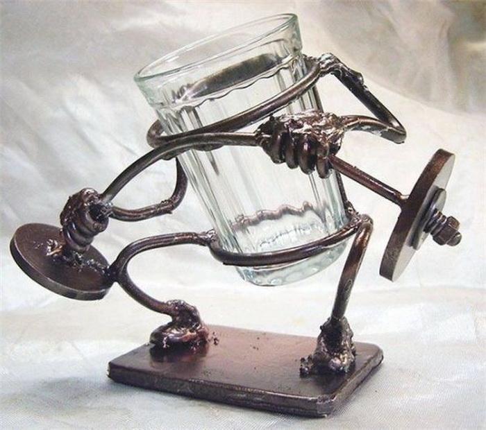 Оригинальные граненые стаканы в стиле Steampunk