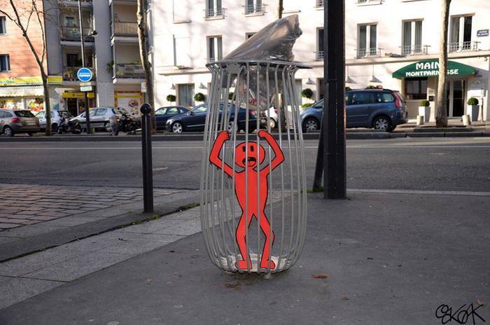 Уличный арт с легкой долей иронии от OakOak.