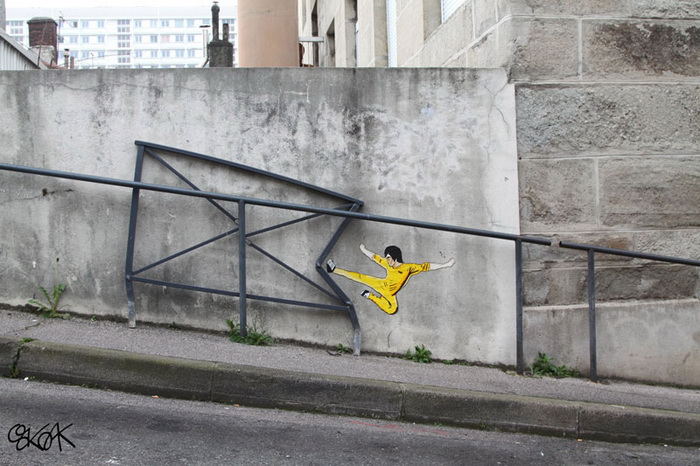Творчество уличного художника OakOak.