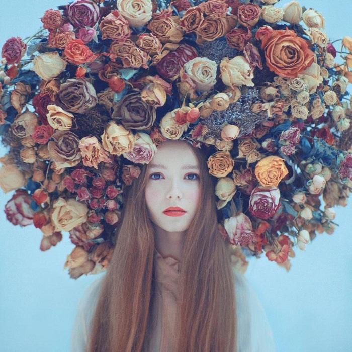 Портрет девушки в исполнении Олега Оприско.