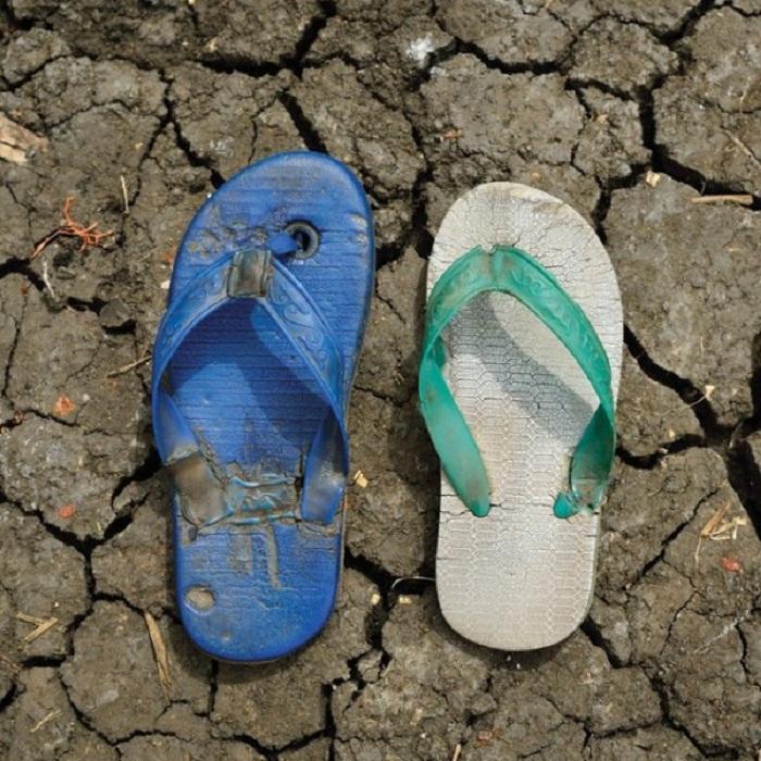 Обувь беженцев из Южного Седана