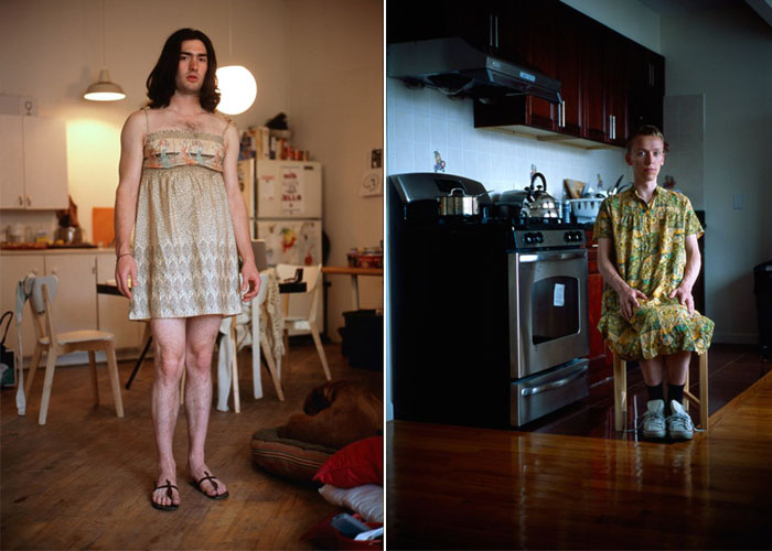 Мужчины в женской одежде