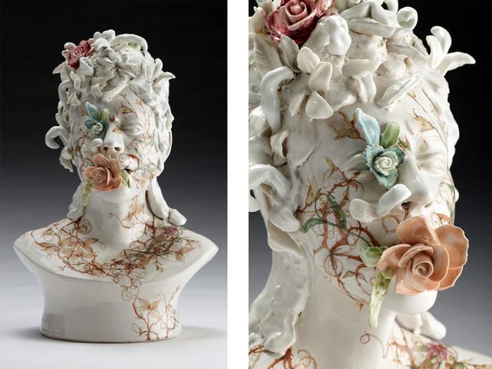 Керамические бюсты от скульптора Jess Riva Cooper.