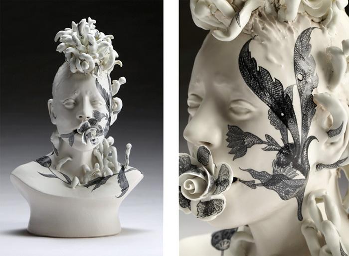 Скульптуры в цветах от Jess Riva Cooper.