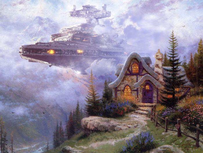Звездные войны на полотнах Thomas Kinkade