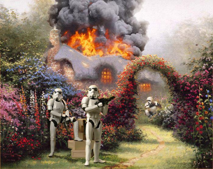 Thomas Kinkade и Звездные войны на его картинах