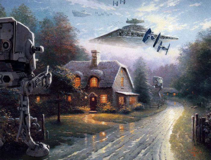 Звездные войны на картинах Thomas Kinkade