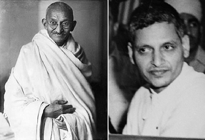 Махатма Ганди и Натхурам Годзе
