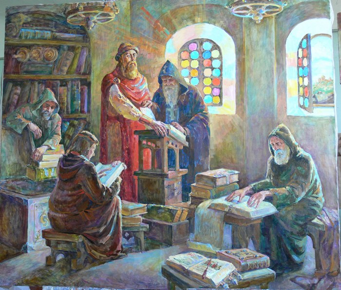 Библиотека Ярослава Мудрого. Живописец Ольга Гальчинская