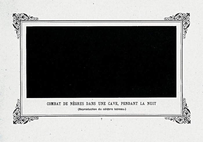 Битва чернокожих в глубокой пещере тёмной ночью (1897). Альфонс Алле.