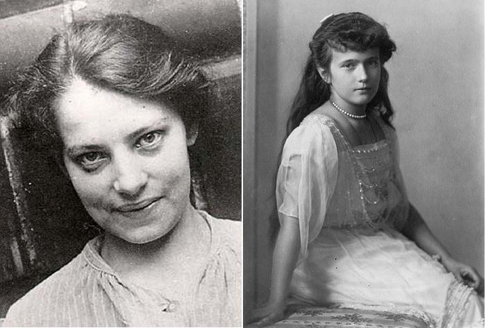 Самозванка Анна Андерсон и великая княжна Анастасия.