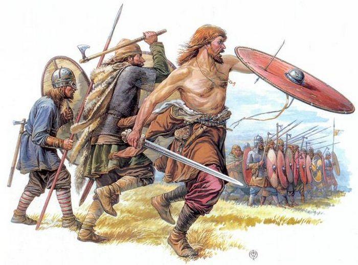 Древние славяне в бою