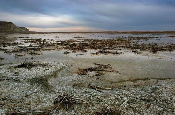 Высохшее Аральское море.