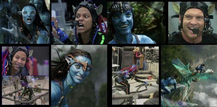 Съёмки фильма Аватар. Актёры превращаются в компьютерных героев.