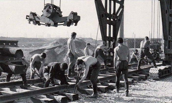 Строительство БАМа.