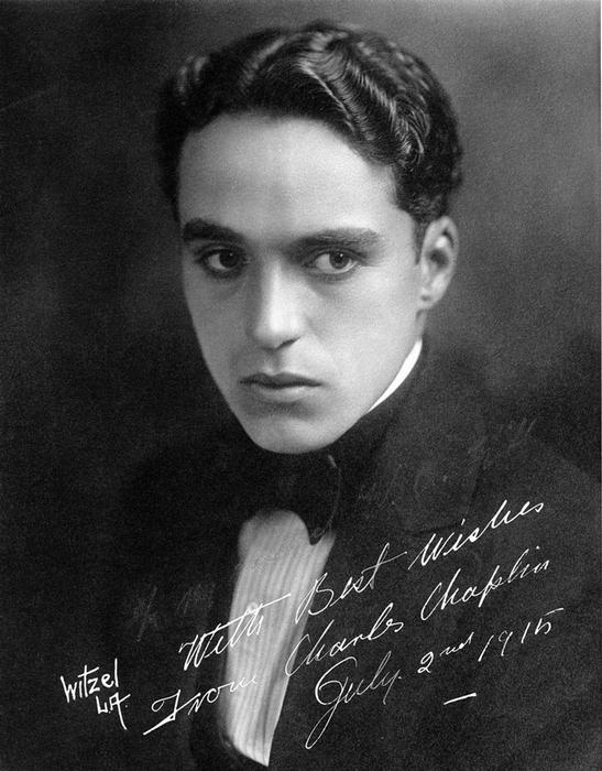 Charlie Chaplin.  (Foto 1915).