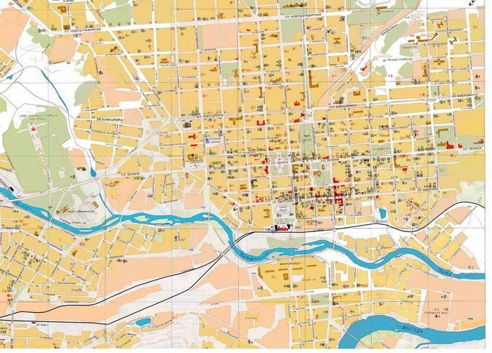 План-карта города Чита.