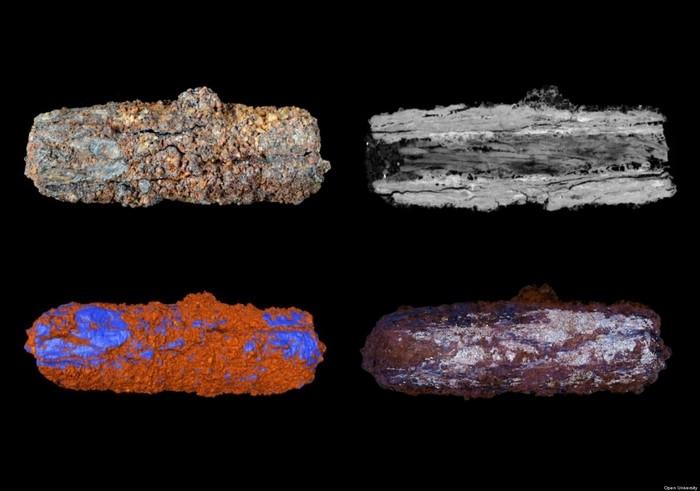 Фрагменты древнеегипетских украшений из метеорита