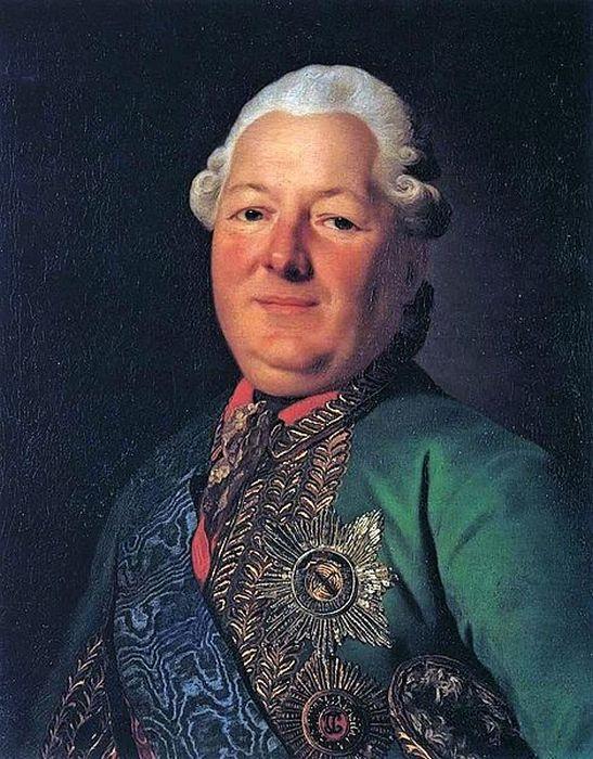 Портрет В.М. Долгорукова-Крымского работы Рослина, 1776.
