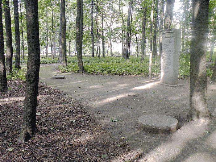Место, где стрелялись Новосильцев и Чернов.