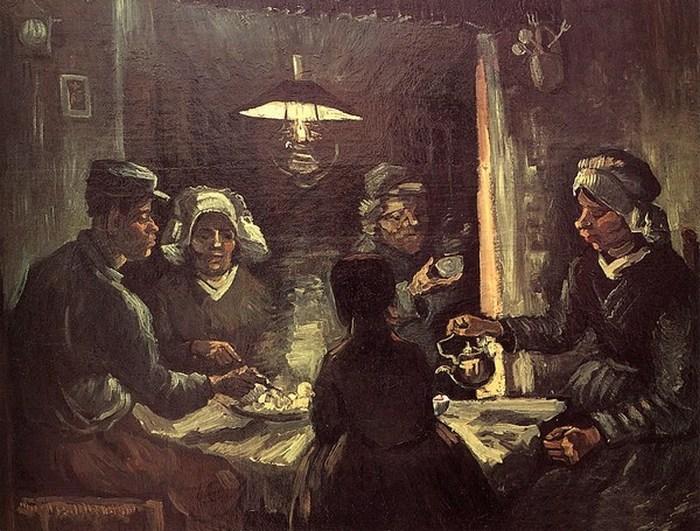 Одна из первых картин Ван Гога. Едоки картофеля. (1885)