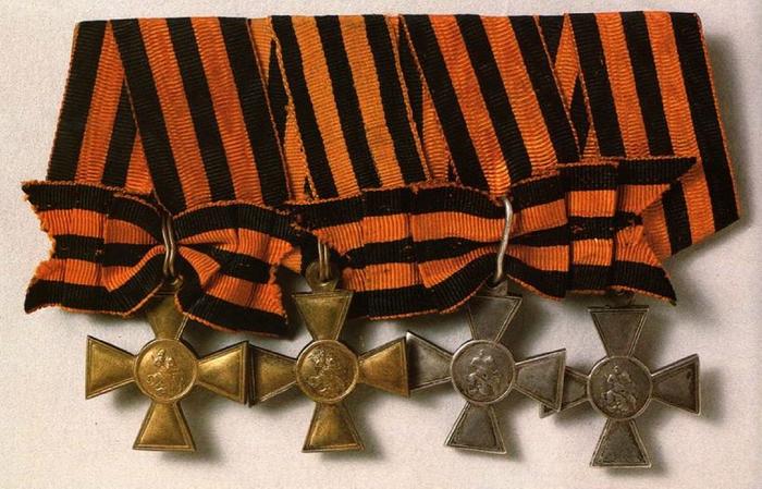Крест Знак отличия военного ордена Георгия Победоносца (для низших чинов).