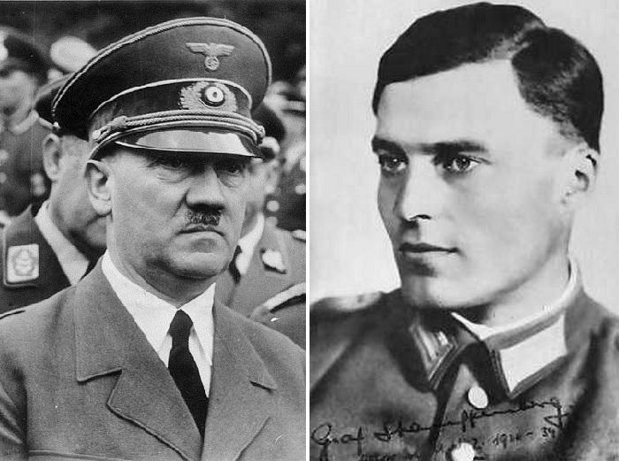 Адольф Гитлер и Клаус Шенк фон Штауффенберг