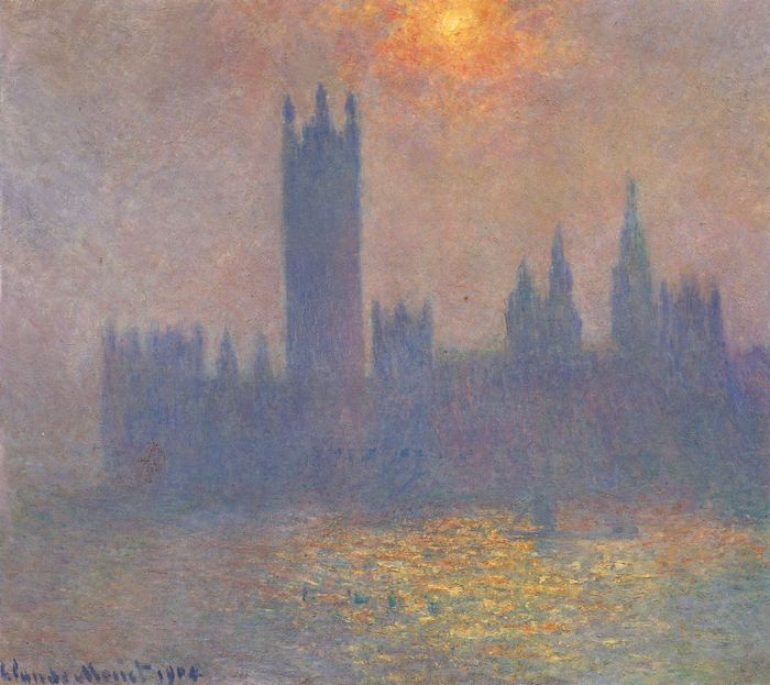 Парламент, эффект тумана. Клод Моне. Эрмитаж