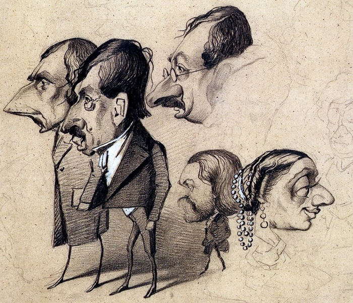 Карикатуры Клода Моне