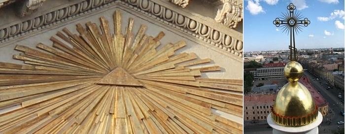 Масонские символы на казанском соборе в Санкт-Петербурге.