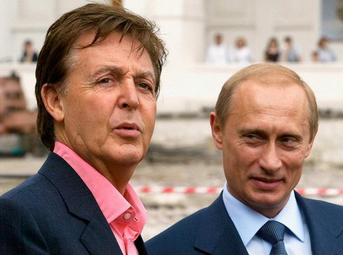 Экс-битл Пол Маккартни и президент РФ Владимир Путин.