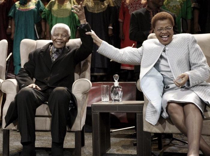 Нельсон Мандела с  Грасой Машел, 2008 год.