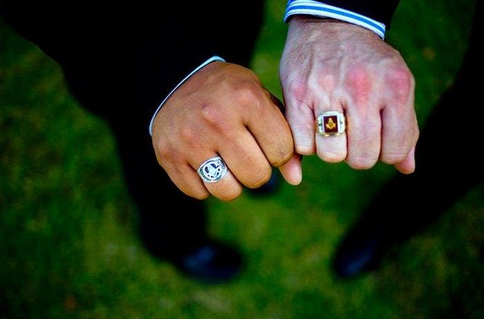 Масонские кольца.